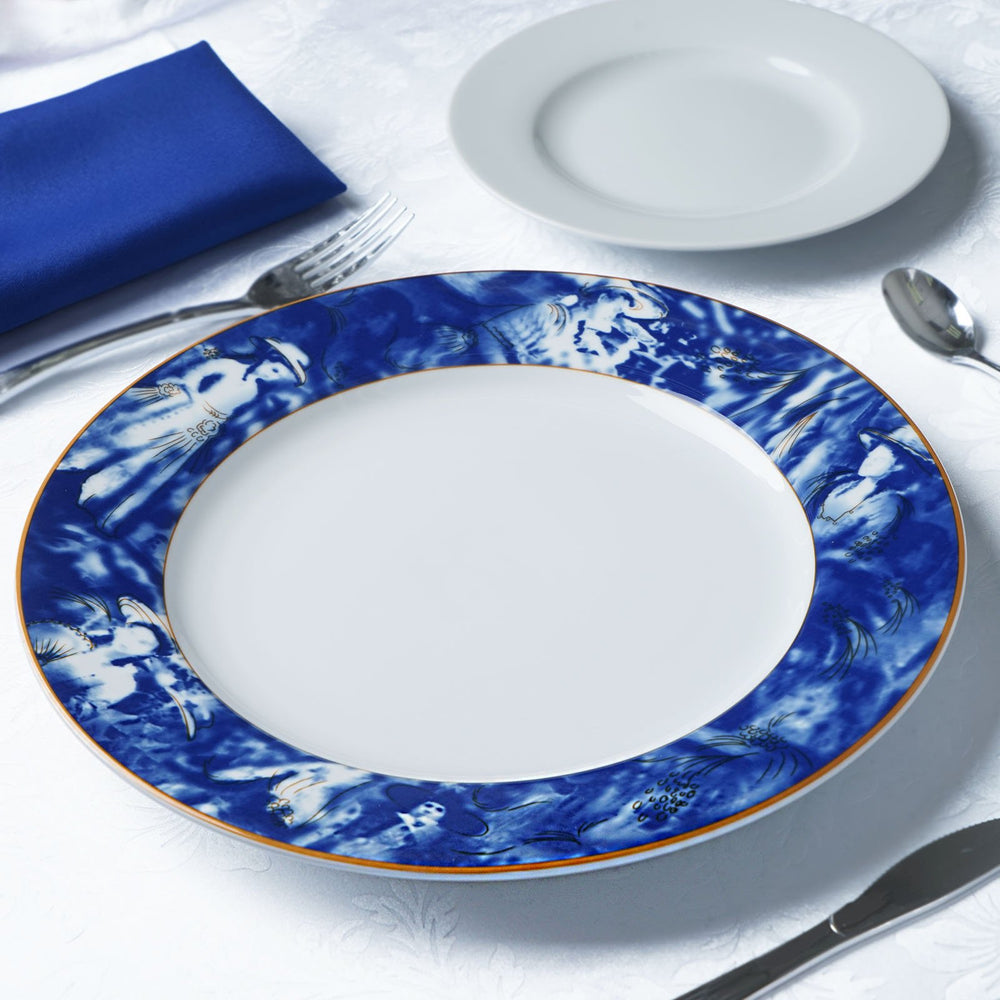 ... Set of 12 Blue Dishwasher Safe 11.5  Porcelain Chip Resistant Dinner Plate Catering Set Dinnerware ...  sc 1 st  Tablecloths Factory & Set of 12 Blue Dishwasher Safe 11.5