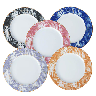 "12 Pack Violet Dishwasher Safe 11.5"" Porcelain Chip Resistant Dinner Plate"