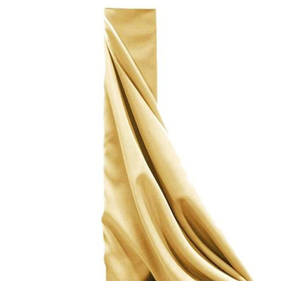 "54"" x 10 Yards Champagne Polyester Wedding Banquet Restaurant Wholesale Fabric Bolt"