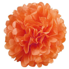 "6 Pack 8"" Orange Paper Tissue Fluffy Pom Pom Flower Balls"