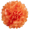 "6 Pack 14"" Orange Paper Tissue Fluffy Pom Pom Flower Balls"
