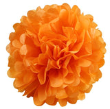 12 PCS Paper Tissue Wedding Party Festival Flower Pom Pom - Orange- 6""