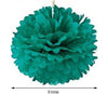 "12 Pack 8"" Teal Paper Tissue Fluffy Pom Pom Flower Balls"