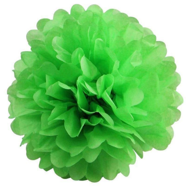 "6 Pack 12"" Apple Green Paper Tissue Fluffy Pom Pom Flower Balls"