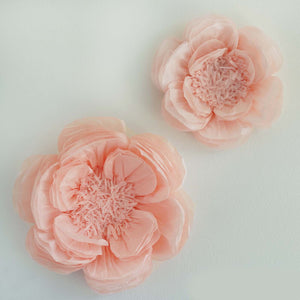 "2 Pack 12"" & 16"" Giant Bloomed Peony Paper Flower- Rose Gold 