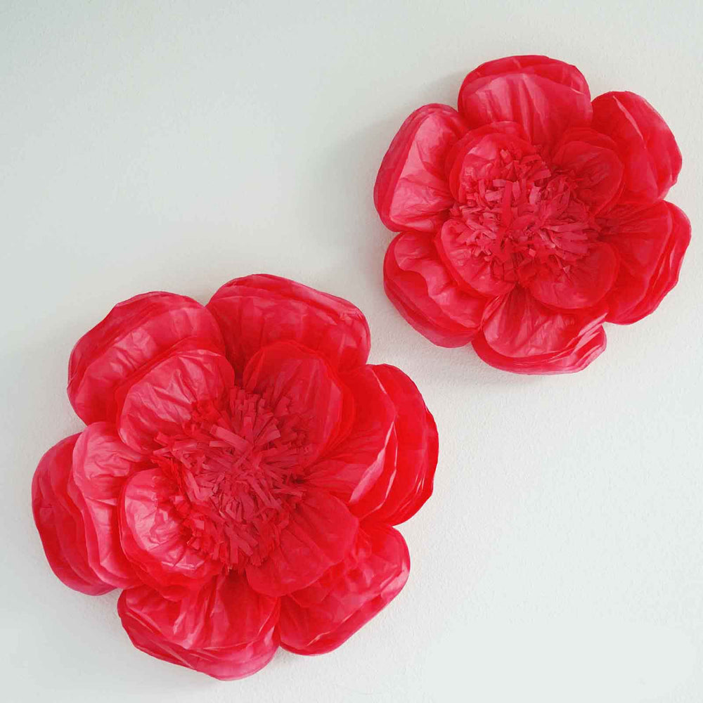2 Pack 12 16 Fuschia Diy Giant Bloomed Peony Paper Flower Wall