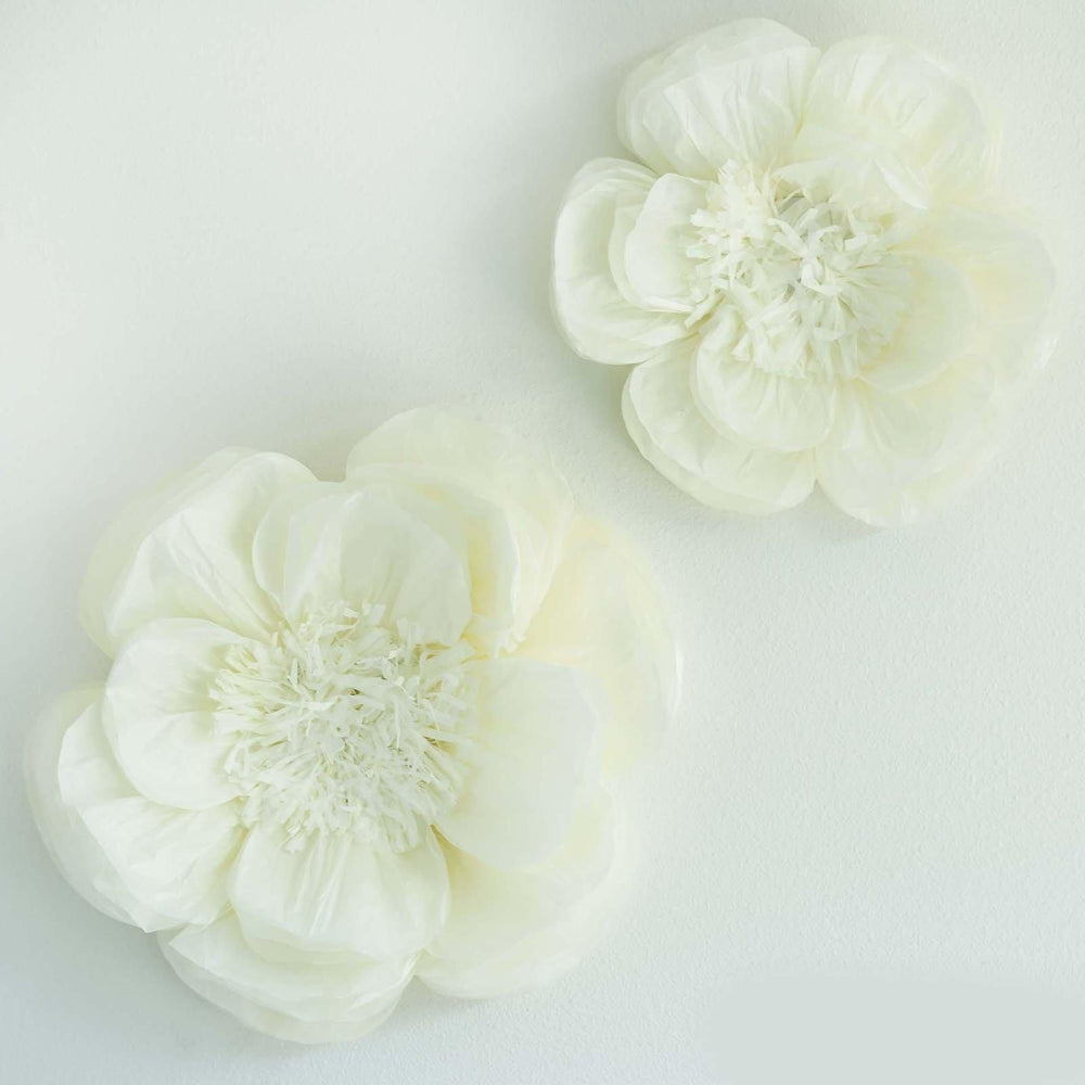 Details About 2 Pack 12 16 Diy Giant Bloomed Peony Paper Flower Wall Backdrop Decor