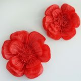 "2 Pack 12"" & 16"" Red Giant Bloomed Peony Paper Flower"