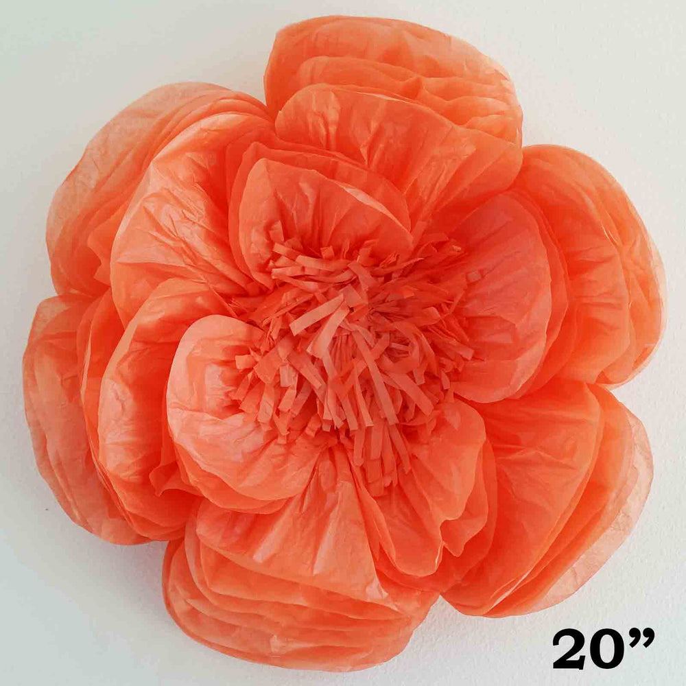 2 pack 20 coral diy giant bloomed peony paper flower wall backdrop mightylinksfo
