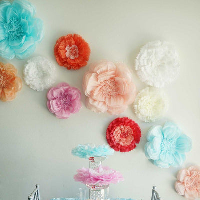 "20"" Peony Lavender 3D Wall Flowers Giant Tissue Paper Flowers"