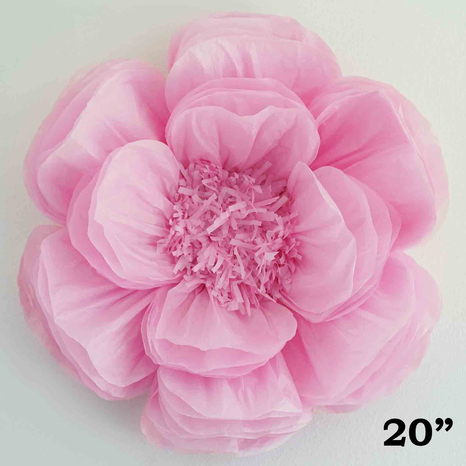 20 Pink Giant Bloomed Peony Paper Flower Tableclothsfactory