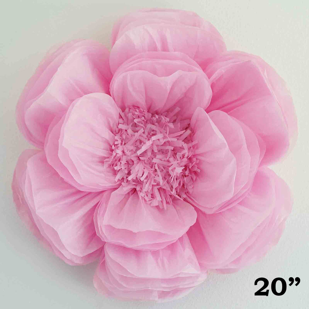 2 Pack 20 Pink Diy Giant Bloomed Peony Paper Flower Wall Backdrop