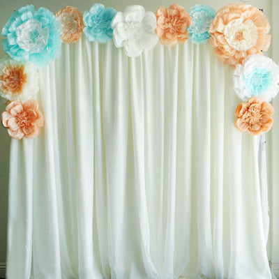 "20"" White Giant Carnation Paper Flower"