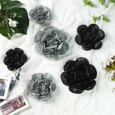 6 Pack Peony Paper Artificial Flowers | Wall Flowers | Assorted Size 7"