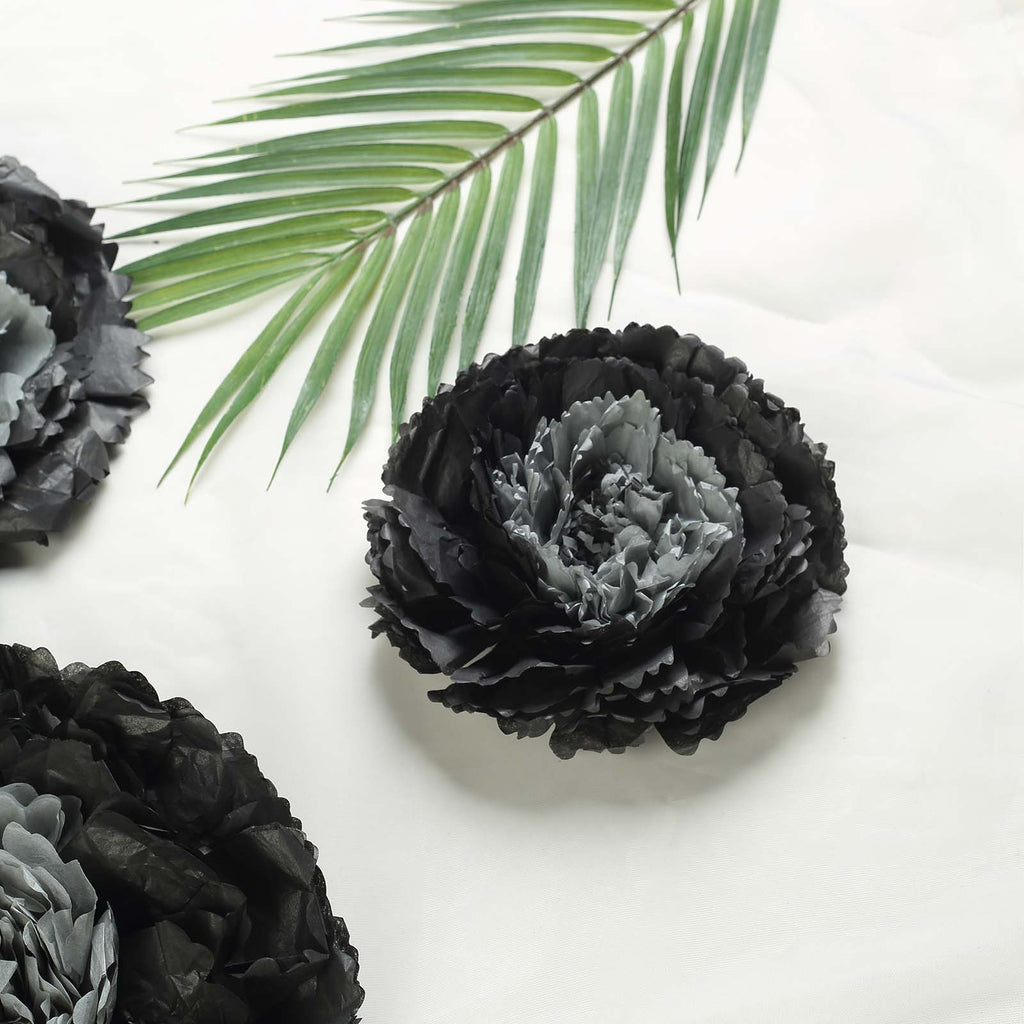 6 Multi Size Pack Carnation Charcoal Grey Dual Tone 3d Wall