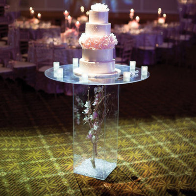 Set of 5 | Clear Acrylic Pedestal Risers & Floor Standing | Acrylic Display Boxes | Transparent Display Box with Interchangeable Lid and Base - 12"