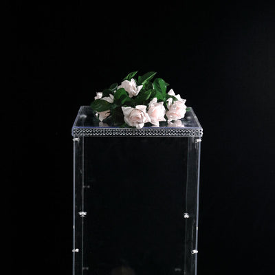 "12"" Clear Acrylic Pedestal Risers 