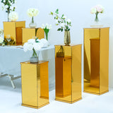 Gold Mirror Box, Pedestal Risers, Acrylic Box