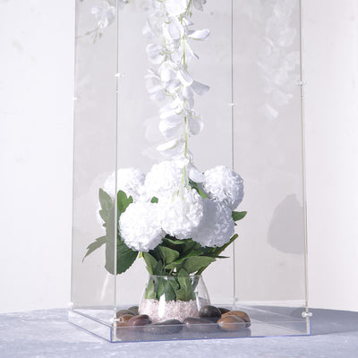 "24"" Clear Acrylic Pedestal Risers 