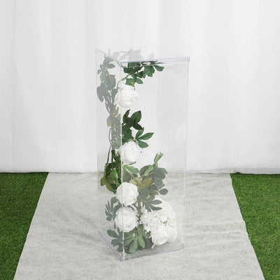 "32"" Clear Acrylic Pedestal Risers 