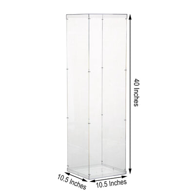"40"" Floor Standing Clear Acrylic Pedestal Risers 