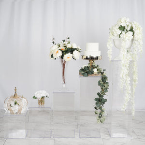 Clear Acrylic Pedestal Risers & Floor Standing | Transparent Acrylic Display Boxes