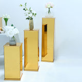Gold Acrylic Pedestal Risers | Transparent Acrylic Display Boxes