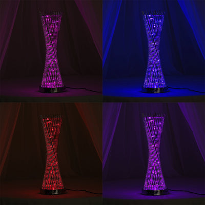 "24"" Color Changing LED Spiral Metal Tower Columns"