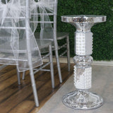 "26"" Shimmering Mosaic Mirror and Pearls Centerpiece Riser"