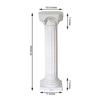 "4 Pack 36"" Tall Height Adjustable Empire Roman Columns"