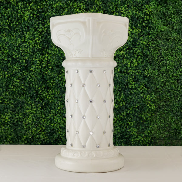 "2 Pack | 25"" Tall White PVC 
