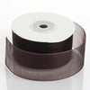 "25 Yard 1.5"" DIY Chocolate Organza Ribbon With Mono Satin Edge"