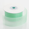"25 Yard 1.5"" DIY Mint  Organza Ribbon With Mono Satin Edge"