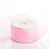 "25 Yard 1.5"" DIY Pink Organza Ribbon With Mono Satin Edge"