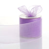 "25 Yards 3"" Lavender Organza Ribbon With Satin Edges 