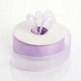 "25 Yard 7/8"" DIY Lavender Organza Ribbon With Mono Edge"