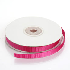 25 Yards 3/8 Inch Fushia Grosgrain Ribbon | TableclothsFactory