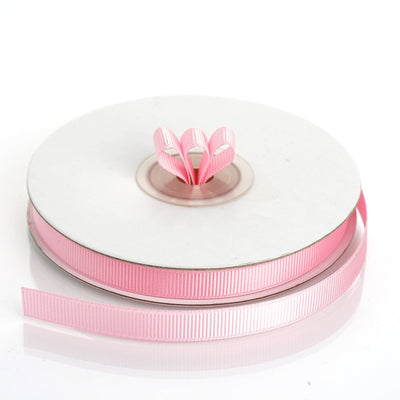 "25 Yards 3/8"" Pink Grosgrain Ribbon - Clearance SALE"