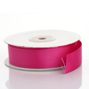 "25 Yards 7/8"" Fushia Solid Grosgrain Ribbon Wholesale"