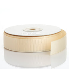 25 Yards | 7/8 Inch | Ivory Grosgrain Ribbon | TableclothsFactory