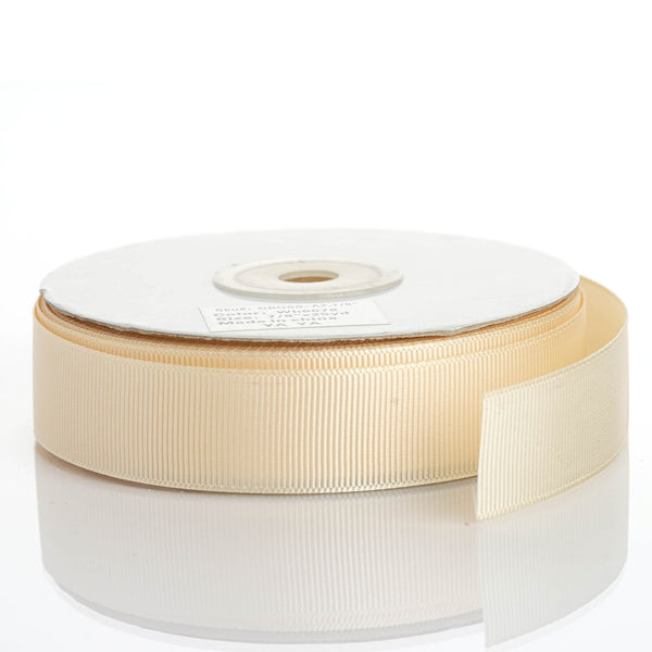 "25 Yards 7/8"" Ivory Grosgrain Ribbon - Clearance SALE"