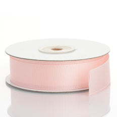 25 Yards | 7/8 Inch | Pink Grosgrain Ribbon | TableclothsFactory