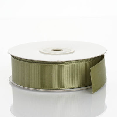 "25 Yards 7/8"" Moss Green Grosgrain Ribbon"