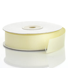 25 Yards | 7/8 Inch | Yellow Grosgrain Ribbon | TableclothsFactory