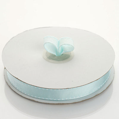 "25 Yards 5/8"" DIY Baby Blue Stitched Grosgrain Ribbon Decoration"