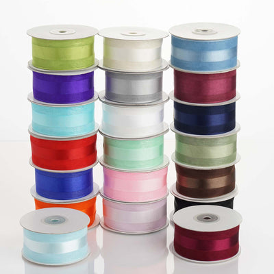 "25 Yards 1.5"" DIY Chocolate Satin Center Ribbon"