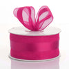 "25 Yards 1.5"" DIY Fushia Satin Center Ribbon"