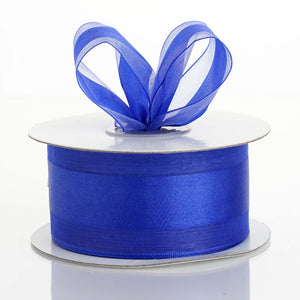 "25 Yards 1.5"" DIY Royal Blue Satin Center Ribbon"