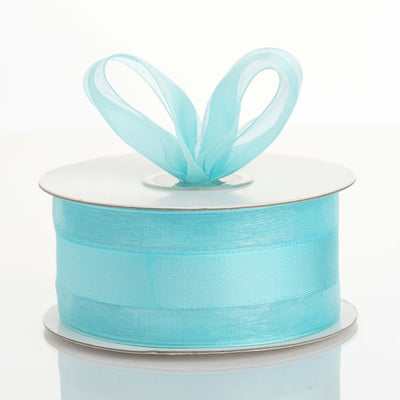 "25 Yards 1.5"" DIY Turquoise Satin Center Ribbon"