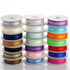 25 Yards | 7/8 Inch Organza Ribbon Satin Center | TableclothsFactory